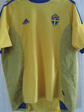 Sweden 2002-2004 Home Football Shirt Adult Size XL /40550