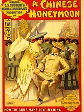 ADVERTISING THEATRE STAGE PLAY CHINESE HONEYMOON COMEDY MUSICAL POSTER LV1183