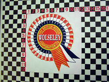Wolseley Rosette Sticker - Hornet 15/60 1500 15/60 16/60 6/110
