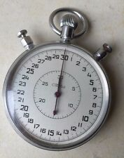 Vintage Collectible Slava Mechanical Russian USSR Communist Pocket Stopwatch