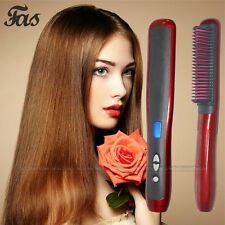 CSW Auto Electric Fast Straight Hair Comb Brush Straightening Irons LCD Curler