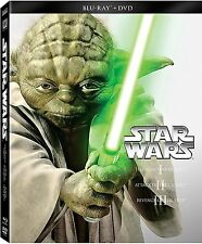 Blu-Ray + DVD * STAR WARS Prequel Trilogy Episodes 1 2 3 NEW