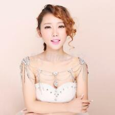 Wedding Bridal Shoulder Body Chain Necklace Earring Jewelry & Ear Clips