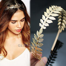 Roman Goddess Gold Leaf Branch Dainty Hair Crown Head Dress Alice Band Bridal W8