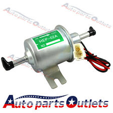 New Gas Diesel Inline Low Pressure electric fuel pump 12V E012-FP-HEP02A WHITE