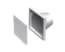 Air Vent Grille Cover 185x185mm WHITE Ventilation Multi Size Duct (MV 120 VNs)