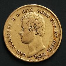 20 lire or Charles-Albert de Sardaigne 1838 Carlo Alberto di Savoia 20 lira oro