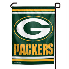 "GREEN BAY PACKERS TEAM GARDEN YARD WALL FLAG BANNER 11"" X 15"" NFL FOOTBALL"