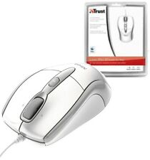 TRUST 15988 USB LASER WHITE MINI MOUSE FOR APPLE MAC/MACBOOK OR PC/LAPTOP