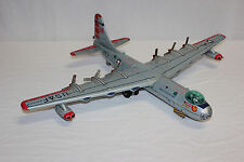 Scarce Yonezawa Y Japan Tin Litho Friction USAF B-36 Convair Bomber Airplane EX