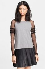 NWT Sz.M Red Valentino Point D'Esprit Sleeve Top
