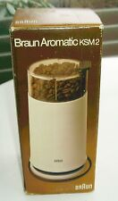 Vintage 1981 Mint In Box NOS Braun Aromatic KSM2 White Coffee Grinder Spain Rams