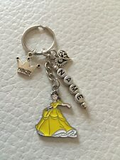 Disney Princess Belle Inspired Personalised  keyring/ Children's bag tag