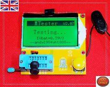 Medidor de LCR LED Transistor Mega 328ESR Tester diodos triodos capacitancia MOS PNP/NPN