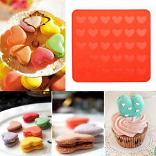 1xReusable Heart Style Pastry Sheet Muffin Tray Silicone Macaron Mat Baking Mold