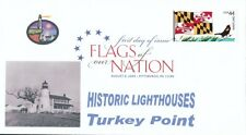 Flags of our Nation - Maryland (Sc. 4296) Turkey Point Lighthouse