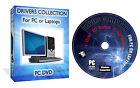 1,750,000 WINDOWS DRIVERS PACK DVD FOR XP VISTA 7 10 + BONUS SOFTWARE PACK