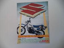 advertising Pubblicità 1984 MOTO SUZUKI DR 500 SA