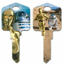 "STAR WARS "" C-3P0 & R2-D2 "" House Key Blank Kwikset KW1"