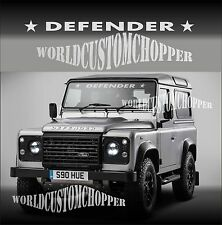 ADESIVO DECAL STICKERS PARABREZZA DEFENDER 4X4 FUORISTRADA OFF ROAD JEEP