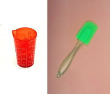 Set of Spatula & Measuring Glass (measure Liter & Ounce)