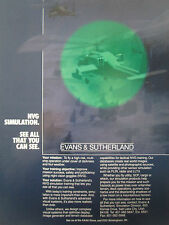 4/1990 PUB EVANS & SUTHERLAND NIGHT VISION GOGGLE HELICOPTER NVG SIMULATION AD