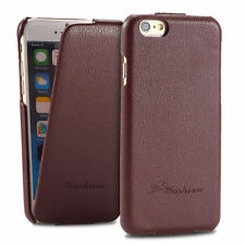 iPhone 6s/6 Schutzhülle Braun Leder Luxus top Case Cover 1A Flip Klappe Aus����