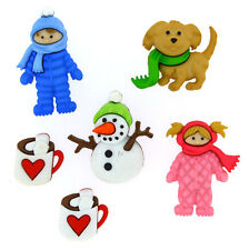 JESSE JAMES ~ DRESS IT UP BUTTONS ~ FUN IN THE SNOW 8312 ~ Hot Cocoa Too! Crafts