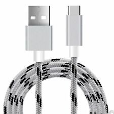 White Braided Micro USB 3.1 Type C Sync Data Charger Lead Cable For LG G5