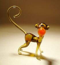 Blown Glass Art Figurine Animal Ape MONKEY