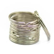 50pcs Silver Split Rings Keyrings Keychains Metal Holder CRAFT DIY 1.2x18mm