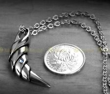 Fenrir Wolf Tooth Pendant Necklace Norse Mythology Stainless Steel