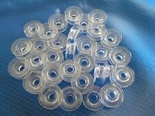 25 Plastic Clear Concave Bobbins For Husqvarna Viking Sewing Machine #4120975-45