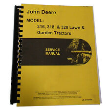 New Service Manual For John Deere 316 420 Tractor