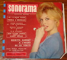 BRIGITTE BARDOT ~ SONORAMA 23 OCTOBER 1960 ~ FRENCH FRANCE FLEXI DISC 7""