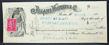 US Check Allaire Woodward National Bank Iowa Documentary Stamp 2c 1900 (H-6752+