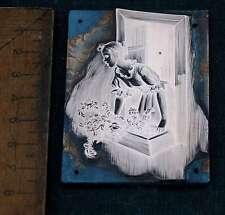 FRAU AM FENSTER Galvano Druckstock Kupferklischee Druckplatte Eichenberg