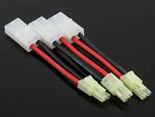 3 Pack: (3) Mini-Tamiya Male to Female Tamiya Adapters w/ 5CM (~2 in) 16awg Wire