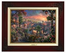 LADY AND THE TRAMP - Disney Thomas Kinkade Canvas Classic (Brandy Frame)