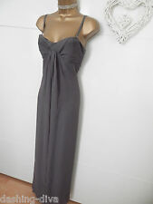 Guess - Elegant Pleat Peep Cocktail Maxi Holiday Party Dress Grey Size 10 bnwt