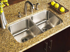 KE Stainless Steel Undermount Kitchen Sink Double 16G 50/50  Equal 16 gauge