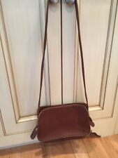 VINTAGE Brown Leather COACH EAST WEST Shoulder Bag SN # E0D-9164 nice shape!