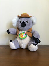 Australian Koala Soft Plush Toy Australia Day Gift Medium with Swag and Hat
