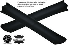 BLACK STITCH 2X A POST PILLAR LEATHER COVERS FITS JEEP GRAND CHEROKEE ZJ 91-98