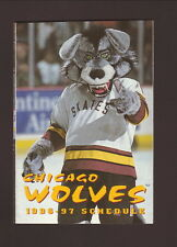 1996-97 Chicago Wolves Schedule--Bud Ice