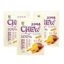 Sweet Potato 100% Real Half Dried Chew&Real Korean Snack Well Being Side Dish 3P