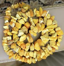 Vintage Egg Yolk Butterscotch Yellow Antique Natural Baltic Amber Necklace 33,5g