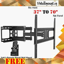 Economy Solid Articulating Wall Mount For most 37''-70'' LED, LCD flat panel TVs