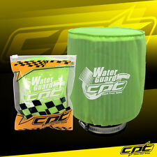 Universal Water Guard Cold Air Intake Pre-Filter Cone Filter Cover Green - Large
