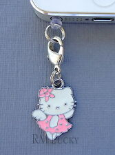Hello Kitty Pink  Angel cell phone Charm Anti Dust proof Plug ear cap jack C198
